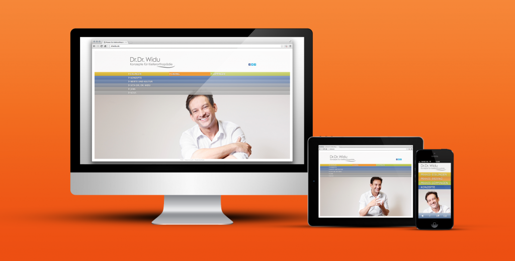 «Dr. Dr. Widu» - Website Re-Design und Praxismarketing