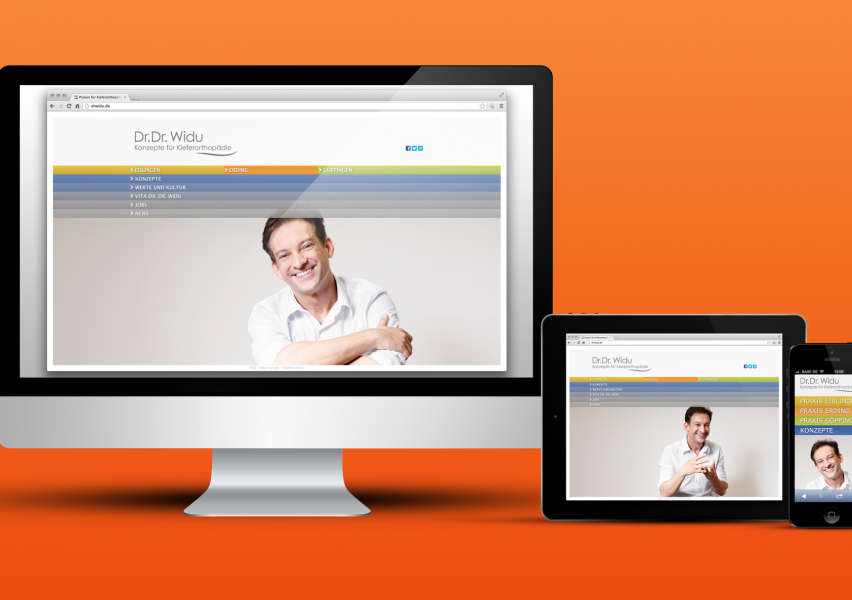 «DR. DR. WIDU» – PRAXISMARKETING / WEBSITE RE-DESIGN